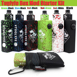 TugboaT mechanical mods online shopping - Top Tuglyfe Unregulated Box Mod Kits Tugboat vapor mods Cubed RDA full Mechanical velocity atomizer RDA tug boat Vaporizer e cigs cigarettes