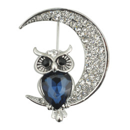 Wholesale animals lists resale online - The New Listing Fashion Delicate Owl Lovely Crystal Acrylic Animal Brooch For Jewelry Pins