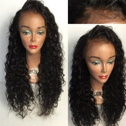 Kinky Curly Human Hair Afro Wigs Australia - Afro Kinky Curly 150 Density Glueless Full Lace Wigs With Baby Hair 8A Virgin Brazilian Kinky Curly Lace Front Wigs Human Hair