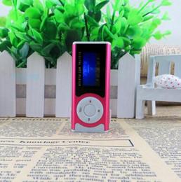 $enCountryForm.capitalKeyWord Canada - 10pcs lot Portable Shiny Mini USB Clip LCD Screen MP3 Media Player Support 16GB Micro SD Card Sports MP3 Music Player MP3 WMA