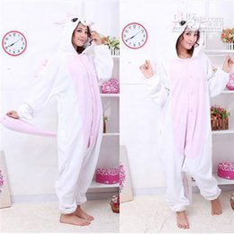Barato Trajes De Unicórnio Para Adultos-Lovely Pink Unicorn Kigurumi Bridal Undergarments Pijamas Animal Halloween Cosplay Costume Unisex Vestido Adulto SleepingHome Dress