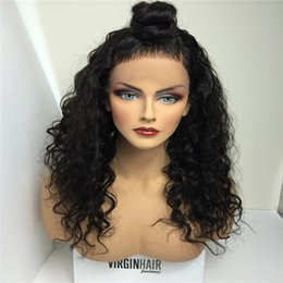 African Kinky Wigs Canada - Full Density Thick Kinky Curly Full Lace Wig Black Women Cheap Glueless Front Lace Wig African American