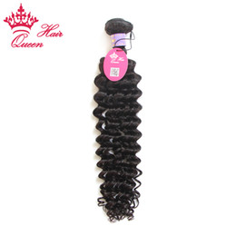 China Queen hair products 1pc lot Malaysian virgin hair deep wave curly style human hair extenstions Free Shipping supplier deep wave hair weave styles suppliers
