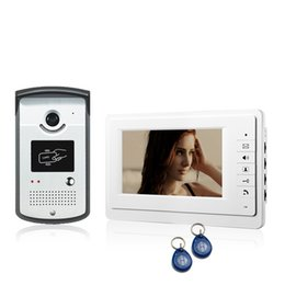 China 7 inch RFID Video Intercom Color Video Door Phone Doorbell Access Control System IR Doorphone V70F-ID cheap door phone rfid suppliers