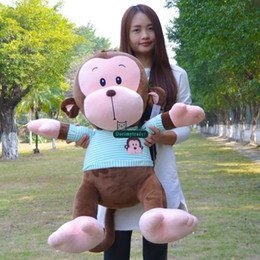 Giant Rabbit Canada - Dorimytrader New Jumbo 95cm Plush Animal Monkey Doll Giant 37'' Stuffed Soft Cartoon Doll Nice Baby Gift Free Shipping DY61158
