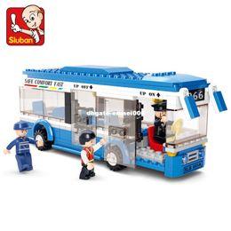 Sluban Blocks NZ - Sluban 0330 Building Blocks City Bus Building Blocks 235+pcs Boys&Girls Enlighten Blocks Educational DIY Bricks Toy For Children