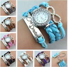 wrist watch cases stainless 2019 - Infinity Bracelet Watch Fashion Bracelet Watches Diamonds Love Leather Wrist Watches Women Quartz Watches Round Case che