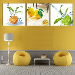 art combinations Australia - Combination Modern Canvas Paint best HAPPY life oil paintings of fruits living room Picture Painting Art Wall 3Panels(No Frame)