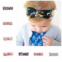 $enCountryForm.capitalKeyWord Canada - Baby Printed flower knitting cotton cross Headbands kids Hair bows Headdress hair band Headwrap Turban Knot Children Hair Accessories