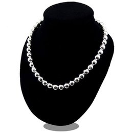 $enCountryForm.capitalKeyWord UK - Silver Buddha Necklace 8 10MM African Solid Spacer Beads Necklace Collar Charms Natural Stone 30% 925 Sterling Silver Women Jewelry 18inch