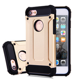 iphone 5.5 cases Australia - 100pcs Sockproof Robot Armor Hybrid Rubber Hard Back Cover Tough Armor Cases With Dual Layer Combo Hard PC+Silicone for iphone 7plus 5.5""