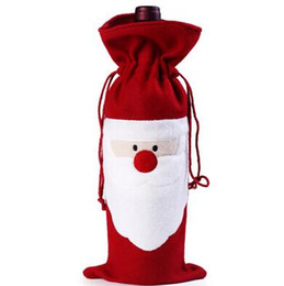 $enCountryForm.capitalKeyWord UK - Christmas Santa Claus red wine bottle cover bags Christmas dinner table decoration at home come party decors