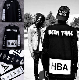 T-shirt Pour Hommes Manches Longues Pas Cher-New Men's Hood By Air T-shirts à manches longues Man HBA Hip Hop t-shirts Been Trill Printed T-shirts Men Camisetas Vêtements