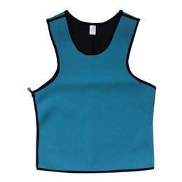 China Wholesale-Men Sweat Gym Waist Trainer Cincher Sports Running Fajas Neoprene Vest Corsets Fashion Men's Sport Corsets Body Shapers S-3XL cheap shapers gym suppliers