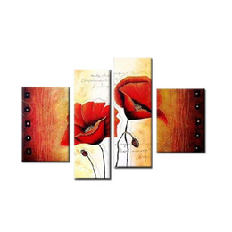 China 100% hand draw abstract modern oil painting on canvas luky flower Good pairs no framed free shipping cheap drawing painting landscapes suppliers