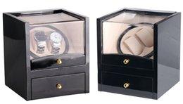 $enCountryForm.capitalKeyWord NZ - Watch Winder Wood Box 2 Slots Global Use with US AU UK EU Plug Battery Black Wood Watch Winder Case for Jewelry&Watches Display Clock Winder