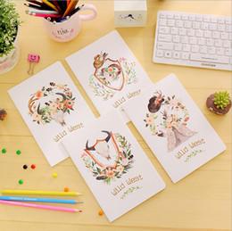 $enCountryForm.capitalKeyWord Canada - 4PCS Set Cute Mini Vintage Flower Notebook Lovely Animal Notepads for Kids Gifts Korean Stationery