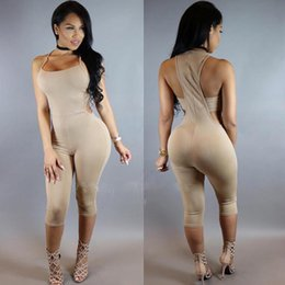 Robes Col En Col Montant Pas Cher-2016 Nouvelle Mode Femmes Sexy Summer Vestidos Robes Sling pendaison col manches Midriff Jumpsuit collier Party bodycon Bandage Clubwear