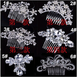 pearl head comb Canada - Bridal Hair Combs Head Pieces Tiara Rhinestones Pearl Flower Butterfly Brade Hairpin Hair Accessories for Wedding