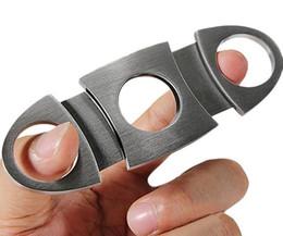 New Inoxidável Pocket Charuto Tesoura Cortador de charuto faca de charuto tesoura fumante faca fumar Acessórios Cor prata venda por atacado