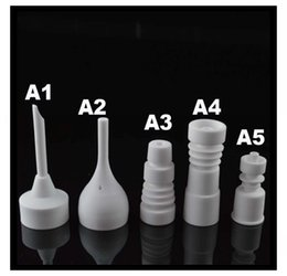 $enCountryForm.capitalKeyWord Canada - Ceramic Bowl Nail Female Male 14mm 18mm Universal New Design Style Unique Shapes Ceramic Nail Domeless Nail for Oil Rigs Bongs Male Joint