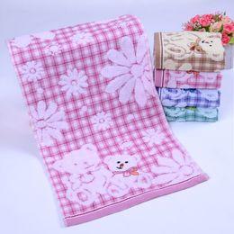 Slobber Towel Canada - bath towels baby towels washcloths cotton baby bib cartoon cute towel for kindergarten children sweat and slobber 25X50CM