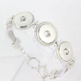 $enCountryForm.capitalKeyWord Canada - DIY Noosa Chunk Bracelets snap alloy white K gold plated Noosa bracelet snap button bracelets bangle noosa bracelets Factory direct sale