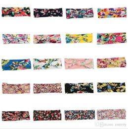 Chinese  20 colors !Baby Girls Headbands Bows Kids Elastic Cotton Flower Hairband Turban Knot Headwear Newborn Bunny Ear Hair Accessories KHA485 manufacturers