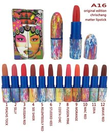 Makeup Cosmetic Name Canada - 2017 Limited Edition Chrischang Matte Lipsticks M Brands Makeup Lips Cosmetic Long Lasting Lip Stick 12 Colors with Name DHL Free Shipping