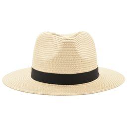 Chinese  Vintage Panama Hat Men Straw Fedora Male Sunhat Women Summer Beach Sun Visor Cap Chapeau Cool Jazz Trilby Cap Sombrero MX17161 manufacturers
