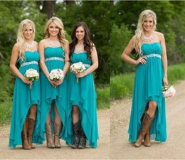 Bridesmaid Pleated Sashes Canada - High Low Bridesmaid Dresses Cheap Sweetheart Sash Beads Chiffon Plus Size Bridesmaid Dresses Tiered Pleats Hunter Dresses Party Evening