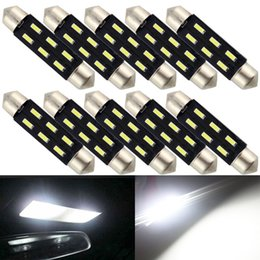 12v festoon bulb Canada - Bright white interior bulbs 100pcs 41mm 4014 C5W 6SMD Festoon Dome LED lighting parts system pathway Side Wedge,Luggage Trunk lamps 12V