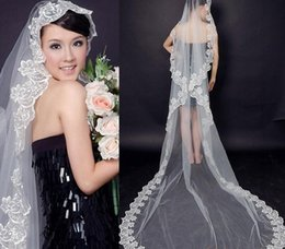 hot veils NZ - 2016 hot sale charm bridal veil long pattern bridal veils 2.9 m trailing Wedding accessories veil 17