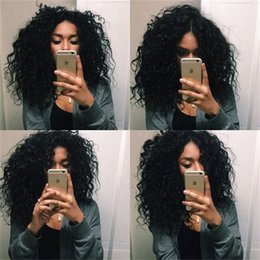 Deep Curly Indian Lace Wig Australia - 150% Density Glueless Full Lace Human Hair Wigs For Black Women Brazilian Hair Wig Deep Curly Lace Front Human Hair Wigs