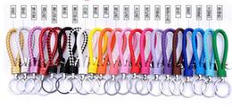 $enCountryForm.capitalKeyWord Canada - creative pure manual weaving male key chain couple key ring leather car key chain small gifts