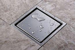 sin plomo Inserción de azulejos Suelo cuadrado Rejillas de residuos Baño Ducha Drenaje 110 X 110 MM, 304 Baño de acero inoxidable Baño de piso DRD51
