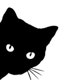 Venta al por mayor de 12 * 15 CM CAT FACE PEERING calcomanías etiqueta engomada del coche Pet Cat Motocicleta pegatinas decorativas calcomanías de la ventana del coche C2-0089