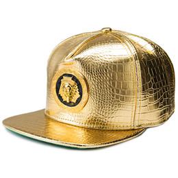 C4 Hip Hop Snapback Caps Pharaoh Leather Baseball Caps Golden Hats Cool  Street Bboy Rapper Dancer MC DJ Skate Gorras b4e98ae62af