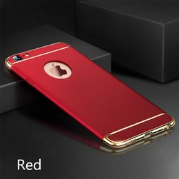 wholesale cell phone cases free shipping Australia - 6 Color Ultra Thin Full Protection Electroplated 3 in 1 Case Hard PC Cell Phone Back Cover for iPhone XS XR 8Plus Samsung free shipping DHL