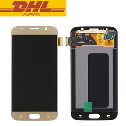 touch screen s6 Australia - Original LCD Screen For Samsung S6 G9200 LCD With Touch Screen Digitizer Assembly DHL Free Shipping