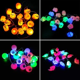Wholesale Halloween Pumpkin Chandelier with LED String Lights Masquerade Terror LED Night Decorative Lights Halloween outfit Cosplay Parties