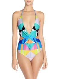 $enCountryForm.capitalKeyWord Canada - 2016 Summer styles neon color halter bandage siamese push up sexy One pencil swimwear swimsuit women bathing suit