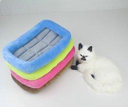 Mats Canada - 50Pcs High Grade Crystal Velvet Pet Mat Waterproof non-slip Dog Crate Mat Kennel Cage Pad Bed Pet Cushion 4 Colors F831