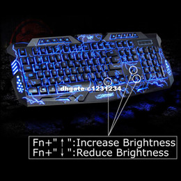 english computers Australia - English Version Waterproof Backlight LED Professional Gaming Keyboard M200 USB Wired Powered Full Key For PC Computer Peripheral