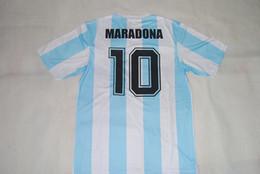 $enCountryForm.capitalKeyWord Canada - Top quality Velvet Nameset Retro jersey 1986 Argentina World cup Maradona shirt any name