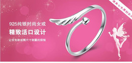 Animal Wings Ring Canada - Wholesale 925 Sterling Silver Ring Jewelry Wing shape Fashion Designer Rings For Women party Gift Fine cute Jewelry Latest design modeling