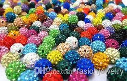 christmas flags sale Canada - hot sale 10mm 150pcs lot mixed Micro Pave Crystal Bead Bracelet Necklace Beads.Hot spacer beads Lot!Rhinestone DIY spacer