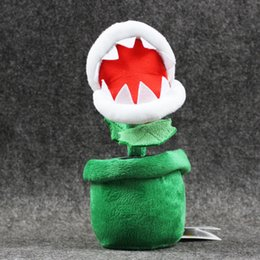 Discount mario free stuff toys - 20cm Super Mario Piranha with Flower Pot Plush Soft Stuffed Doll Toy for kids gift free shipping retail