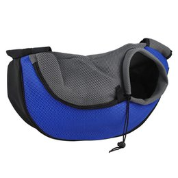Bags Carry Puppies Canada - new Pet Carrier Carrying Cat Dog Puppy Small Animal Sling Front Carrier Mesh Comfort Travel Tote Shoulder Bag Pet Backpack SL