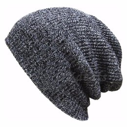 Army Hats For Women Canada - Winter Casual Knit Hats For Women Men Baggy Beanie Hat Crochet Slouchy Ski Cap Warm Fashion Accessories